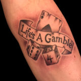 dice and cards tattoo