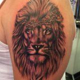 realistic lion head tattoo