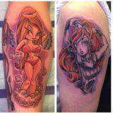 new school girl tattoo