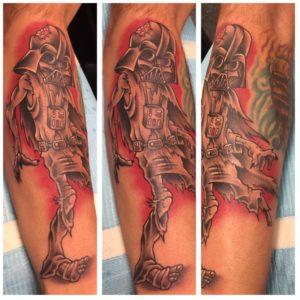darth vader zombie tattoo