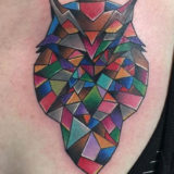 mosaic owl tattoo
