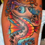 sea horse tattoo