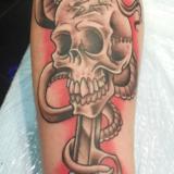 skull with gun tattoo