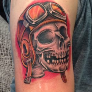aviator skull tattoo