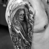 reaper black and grey tattoo