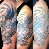 dragon black and grey tattoo