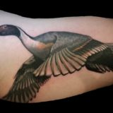 flying goose tattoo