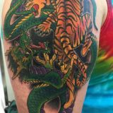 tiger snake tattoo