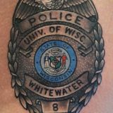 police badge tattoo