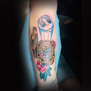 jack skeleton compass deathstar tattoo