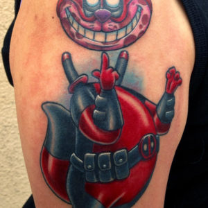 deadpool cartoon character tattoo