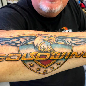 harley davison goldwing tattoo