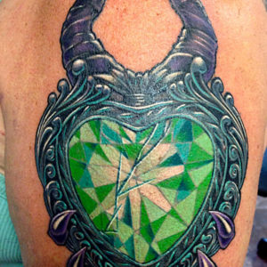 jeweled heart tattoo