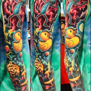space duck sleeve tattoo