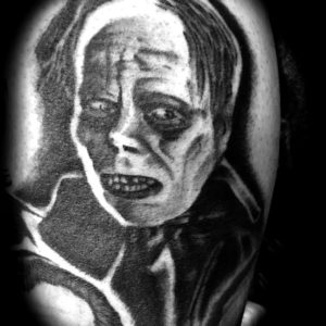 phantom of the opera black and grey tattoo