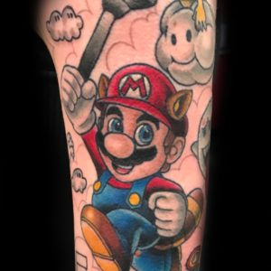 super mario cartoon tattoo
