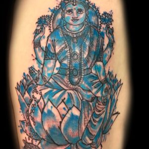 sitting buddha tattoo