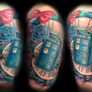 doctor who color tattoo