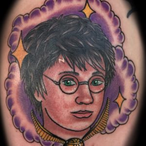 harry potter color tattoo