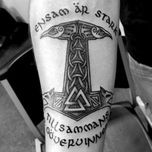 black and grey celtic tattoo