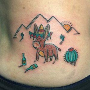 desert donkey tattoo