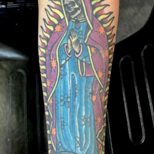 skeleton virgin mary tattoo