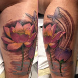 butterfly lotus tattoo