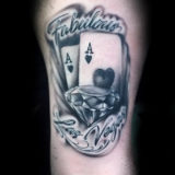 vegas cards tattoo