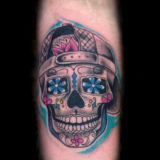day of dead baseball cap tattoo