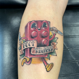 lego character tattoo