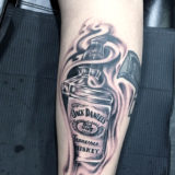 jack daniels bottle tattoo