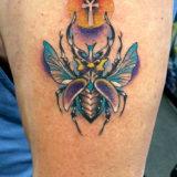 egytian scarab beetle tattoo
