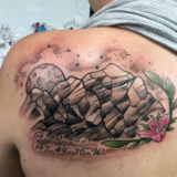 moon and mountain tattoo