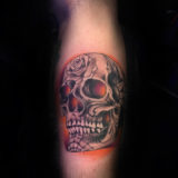skull with designs tattoo