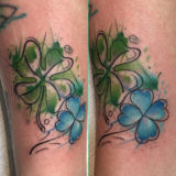 watercolor clover tattoo