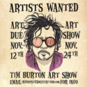 tim burton art show flyer at studio 21 tattoo
