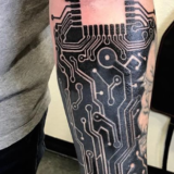 circuit board tattoo