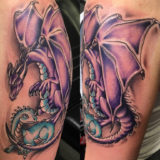 two magic dragons tattoo