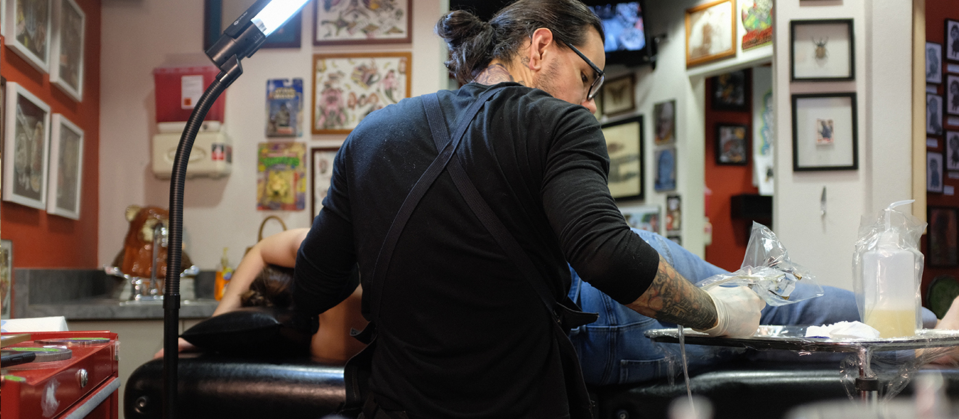 nick bones tattooing