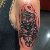 owl and key tattoo