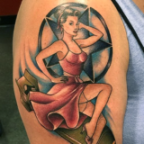 bomb pinup tattoo