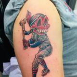 chiefs baseball cartoon tattoo
