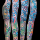 mario sleeve tattoo