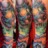 spacial sleeve tattoo-das frank