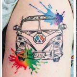 vw watercolor tattoo