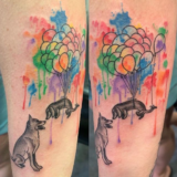 watercolor dog tattoo-nick
