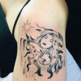 celestial girl tattoo