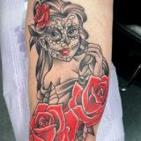 de los muertos girl tattoo