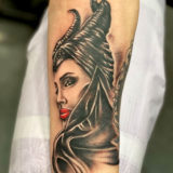 maleficent portrait tattoo
