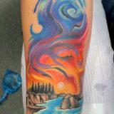 outdoor aurora borealis tattoo